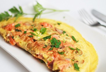 Salmon Potato Omelette AND DIET